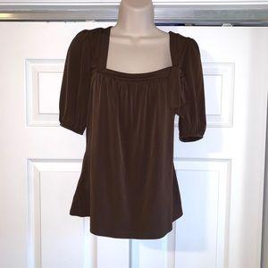 LKNW ANN TAYLOR LOFT Brown Blouse S
